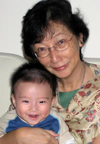 Dr Khoo with grandson, Matthew